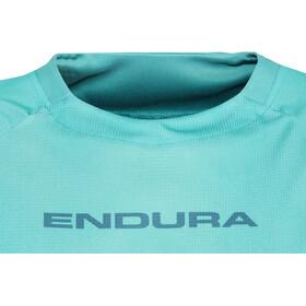 Endura SingleTrack Core Print Jersey Korte Mouwen Dames, kingfisher